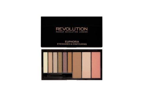 Dárek Makeup Revolution Paletka očních stínů a konturovací sada Euphoria (Eye Shades & Contouring) 18 g (Odstín Bronzed Euph Pudry