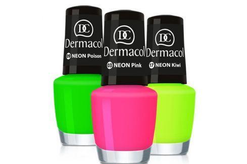 Dárek Dermacol Neonový lak na nehty 5 ml (Odstín č.23 Mai Tai) Laky na nehty