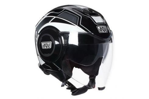 Dárek AGV přilba FLUID Soho černá/bílá vel.S (55-56cm) Helmy na motorku