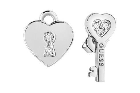 Dárek Guess Asymetrické náušnice Klíč k srdci UBE83095 Náušnice