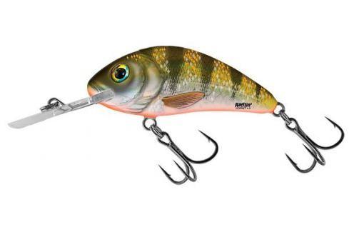 Dárek Salmo Wobler Rattlin Hornet Floating Yellow Holographic Perch 6,5 cm, 20 g Wobblery