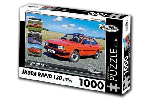 Dárek RETRO-AUTA© Puzzle č. 30 - ŠKODA RAPID 130 (1986) 1000 dílků Puzzle