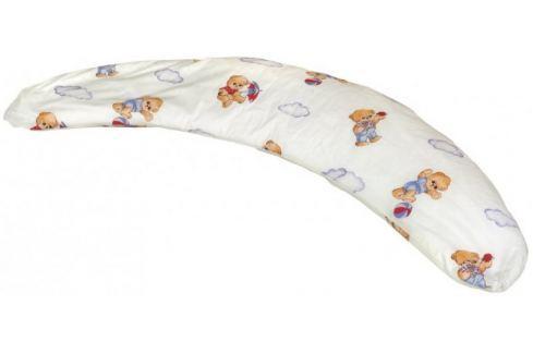 Dárek Kvalitex Polštář na kojení Milánek, Medvídek s deštníkem bílá Kojící polštáře