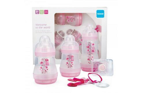 Dárek MAM Gift dárkový set pro novorozence malý, holka Kojenecké láhve