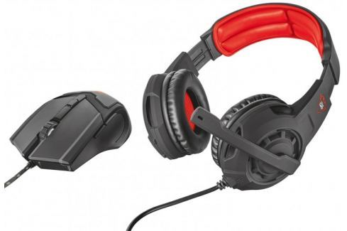 Dárek Trust set GXT 784 Gaming Headset & Mouse (21472) Myši, klávesnice