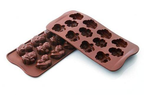 Dárek Silikomart Silikonová forma na čokoládu – andílci Formy na čokoládu