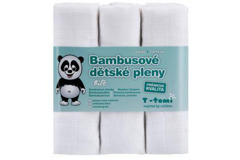 Dárek T-tomi Bambusové pleny, sada 3 kusů, bílá Látkové plenky