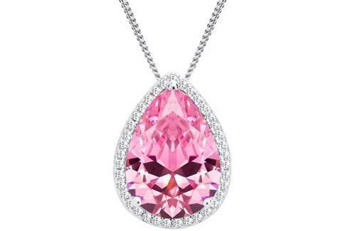 Dárek Preciosa Stříbrný náhrdelník Rosa 5225 69 stříbro 925/1000 Náhrdelníky