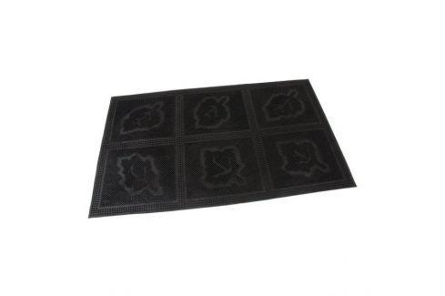 Dárek FLOMAT Gumová vstupní kartáčová rohož Leaves - Squares - 75 x 45 x 0,6 cm Vstupní čistící rohože