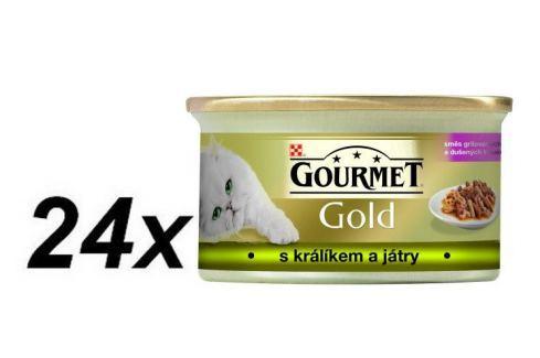 Dárek Gourmet Gold králík s játry 24 x 85 g Konzervy pro kočky