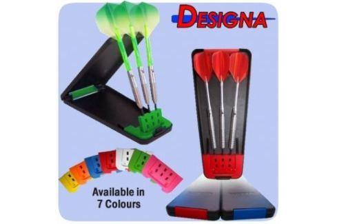 Dárek Designa Pouzdro na šipky Delta Solid Case - Black Orange Plastové krabičky