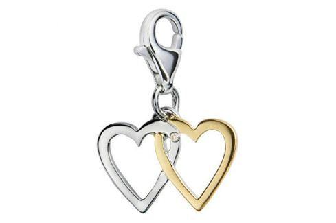 Dárek Hot Diamonds Zamilovaný přívěsek s diamantem Love Luck Happiness DT025 stříbro 925/1000 Přívěsky