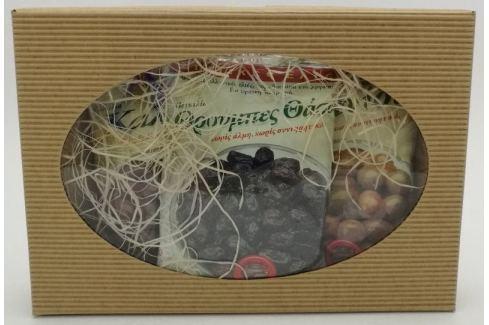Dárek Mix marinovaných řeckých oliv s peckou - Kalamata, Blonde a Thassos Řecké delikatesy