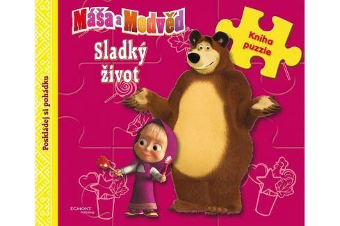 Dárek Animaccord: Máša a medvěd - Sladký život (kniha s puzzle) Naučná literatura do 10 let