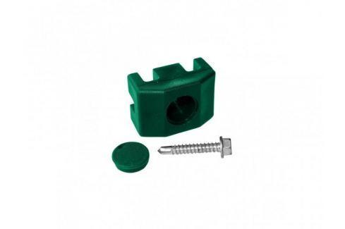 Dárek Příchytka PVC na sloupek 60×40 mm pro panely včetně šroubu, zelená Panely PILOFOR® a PILODEL®