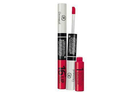 Dárek Dermacol Dlouhotrvající barva na rty a lesk 2v1 16h Lip Colour (Odstín č.5 Starorůžová s leskem) Lesky na rty