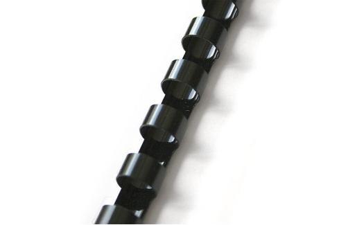 Dárek Hřbet pro kroužkovou vazbu 28,5 mm černý / 50 ks Vazba dokumentů