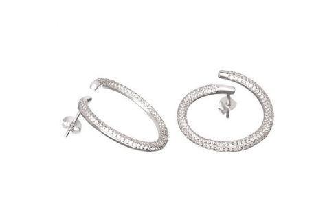 Dárek Preciosa Fashion stříbrné náušnice s krystaly Finespun 5200 00 stříbro 925/1000 Náušnice