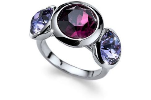 Dárek Oliver Weber Prsten s fialovými krystaly Working Every 41129 204 (Obvod L (56 - 59 mm)) Prsteny