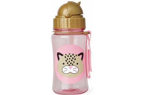 Dárek Skip hop Zoo Lahvička s brčkem - Leopard Hrnky, láhve na pití