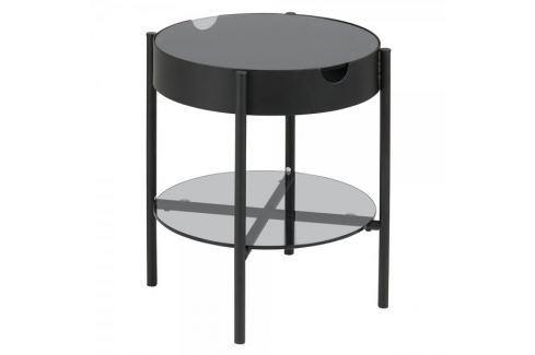 Dárek Design Scandinavia Konferenční / servírovací stolek Lipton, 45 cm, kouřové sklo Konferenční stoly