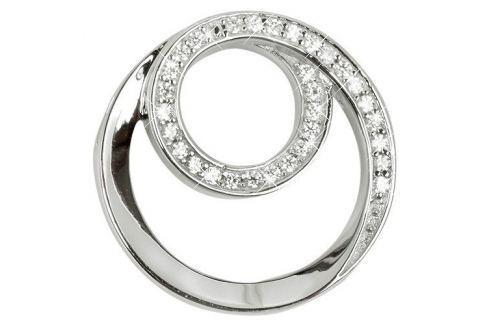 Dárek Silver Cat Stříbrný přívěsek spirála se zirkony SC222 stříbro 925/1000 Přívěsky