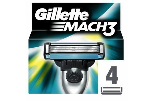 Dárek Gillette Mach3 Náhradní hlavice k pánskému holicímu strojku 4 ks Náhradní břity, hlavice