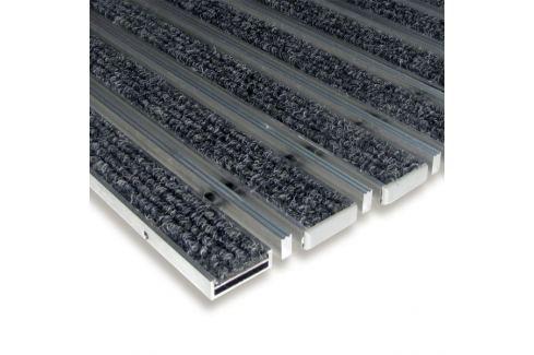 Dárek FLOMAT Textilní hliníková čistící vstupní vnitřní kartáčová rohož Alu Low Extra - 80 x 120 x 1 cm Vstupní čistící rohože