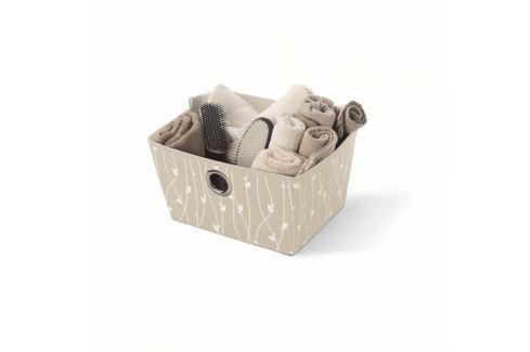 Dárek Béžový úložný koš Cosatto Leaves, šířka33cm Úložné krabice akošíky